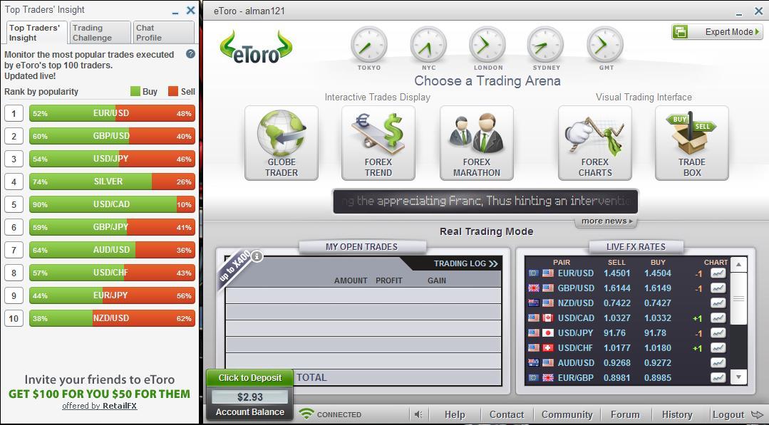 eToro-trading-platform