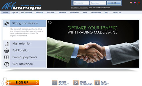 high low binary options login