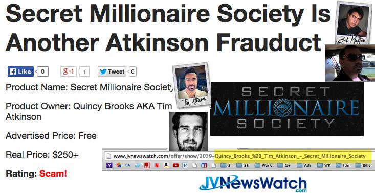 secret millionaire society scam