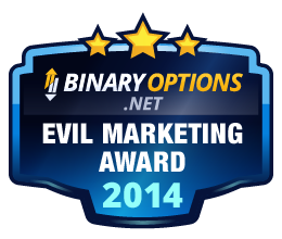 BinaryOptions.net Evil Marketing Award