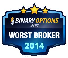 BinaryOptions.net Worst Broker Award