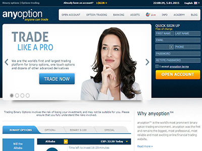 Binary options online login