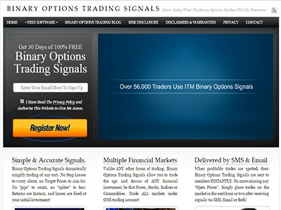 Binary options signal services