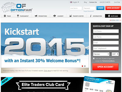 Optionfair binary options trading platform
