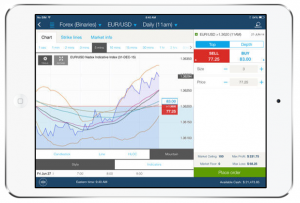 Nadex mobile application